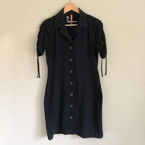 LUCY Athletic Black Adventure Shirt Dress